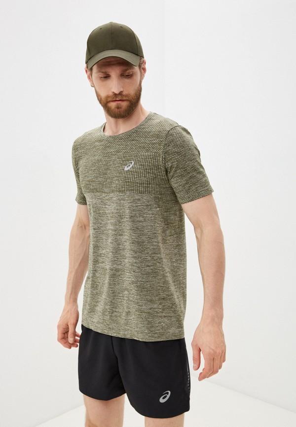 мужская спортивные футболка asics, хаки