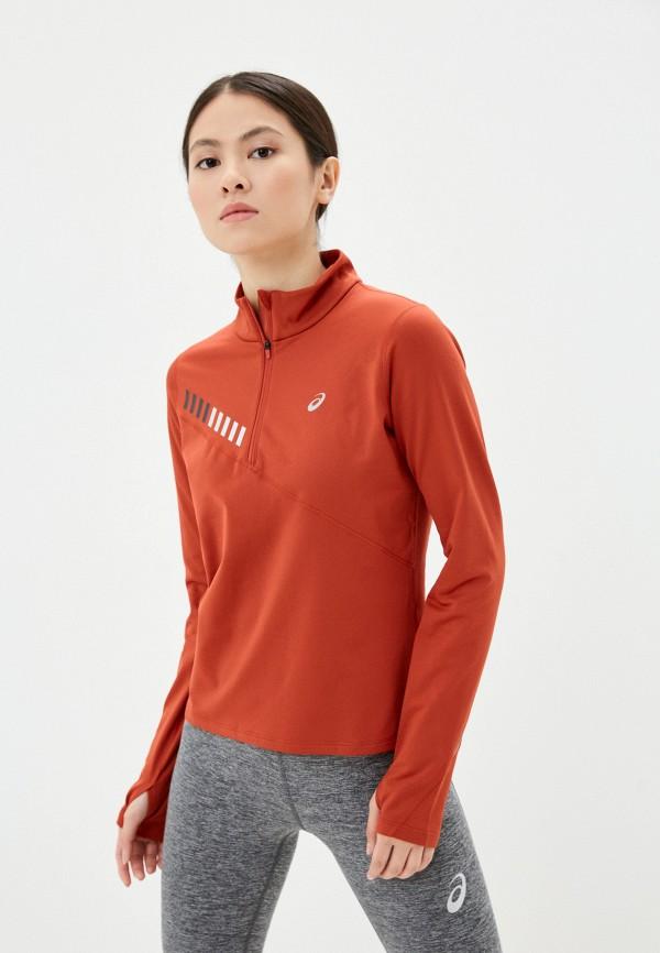 женский лонгслив asics, оранжевый
