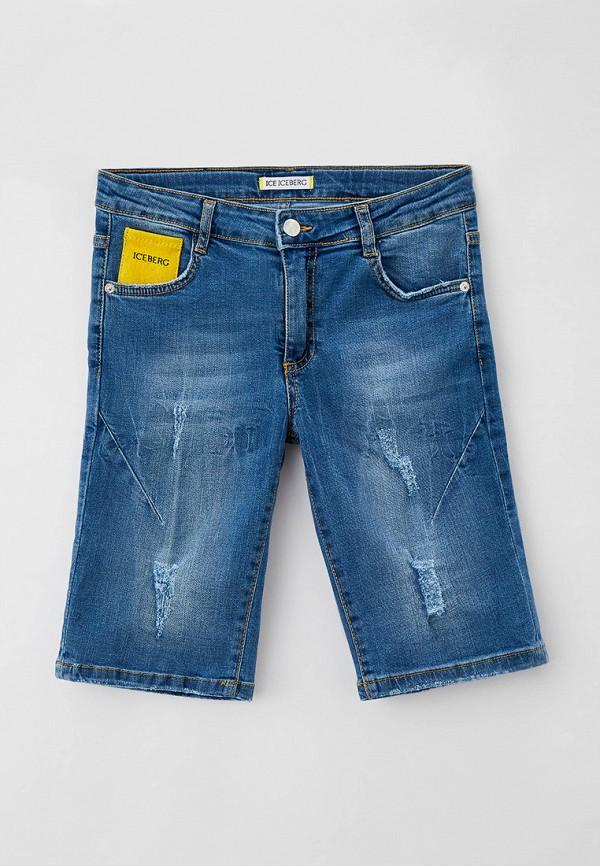 джинсовые шорты ice iceberg для мальчика, синие