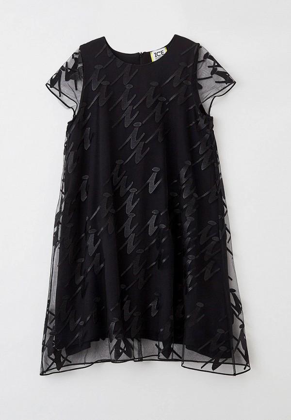 нарядные платье ice iceberg для девочки, черное