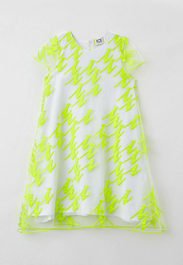 нарядные платье ice iceberg для девочки, белое