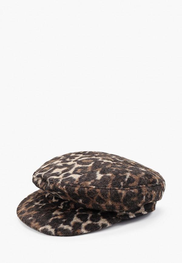 женская кепка koton, коричневая