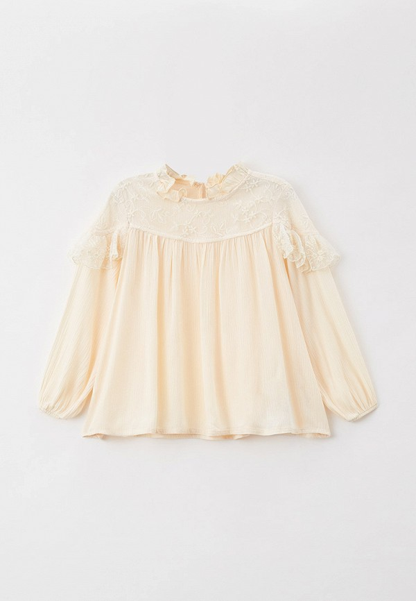 блузка koton для девочки, бежевая