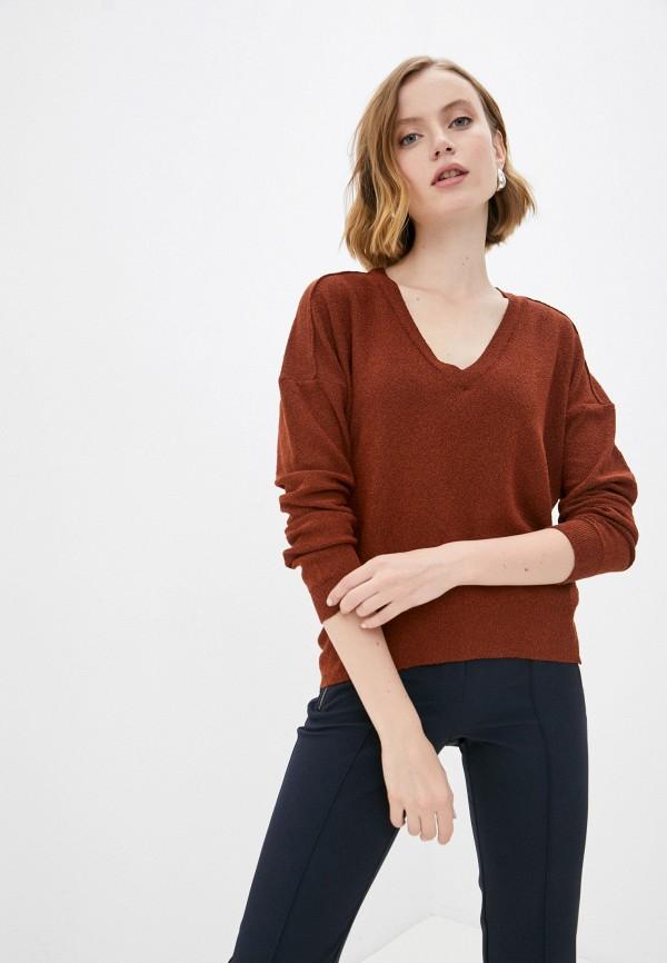 женский пуловер koton, коричневый