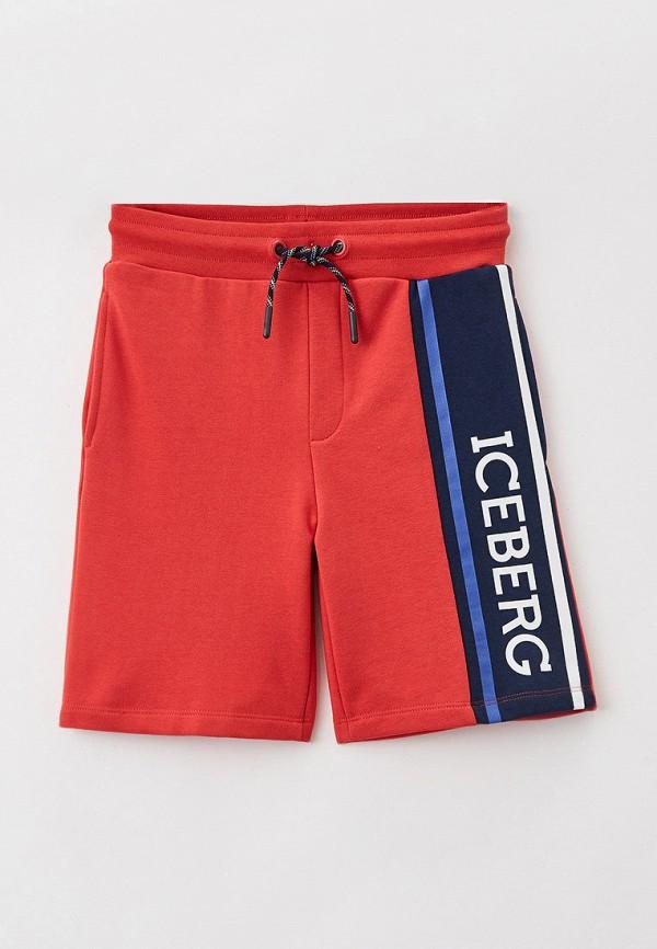 спортивные шорты ice iceberg для мальчика, красные
