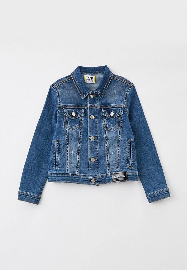 джинсовые куртка ice iceberg для мальчика, синяя