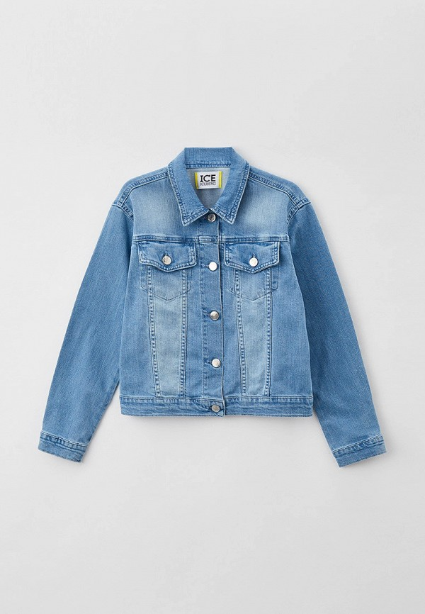 куртка ice iceberg для девочки, голубая