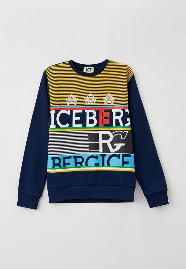 свитшот ice iceberg для мальчика, синий