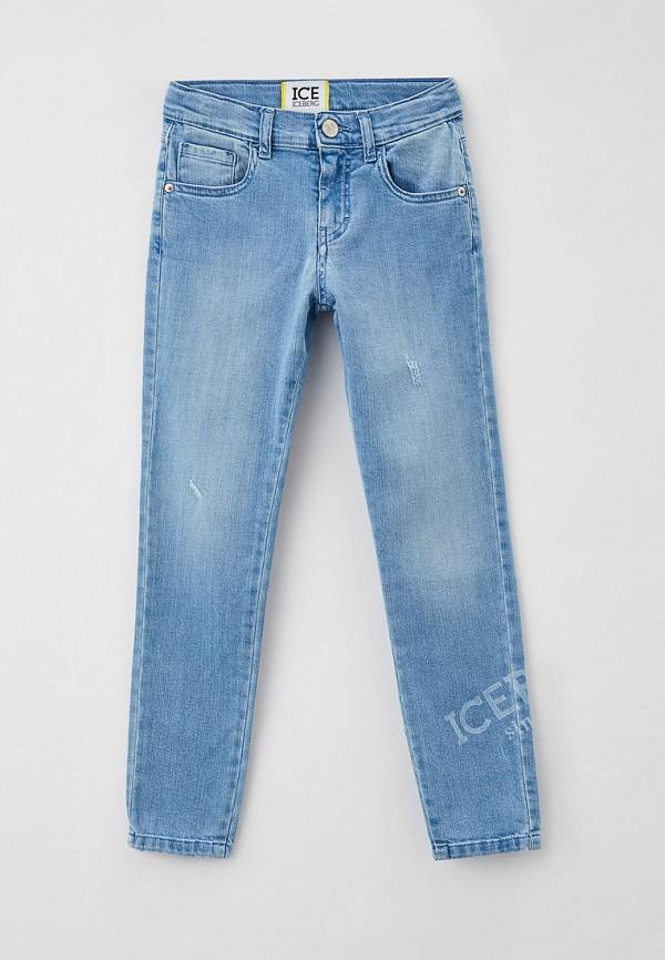 джинсы ice iceberg для девочки, голубые