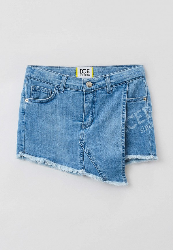 джинсовые шорты ice iceberg для девочки, голубые