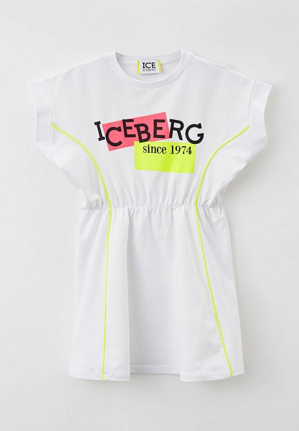повседневные платье ice iceberg для девочки, белое
