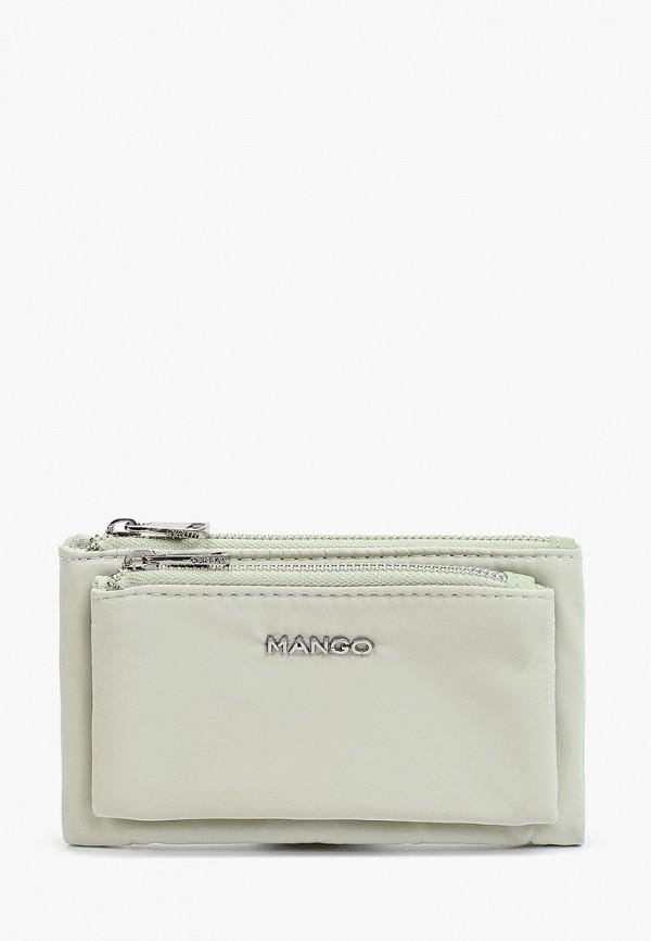 женский кошелёк mango, зеленый