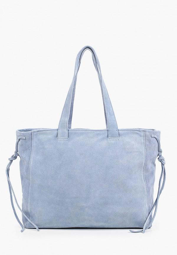 женская сумка с ручками mango, голубая