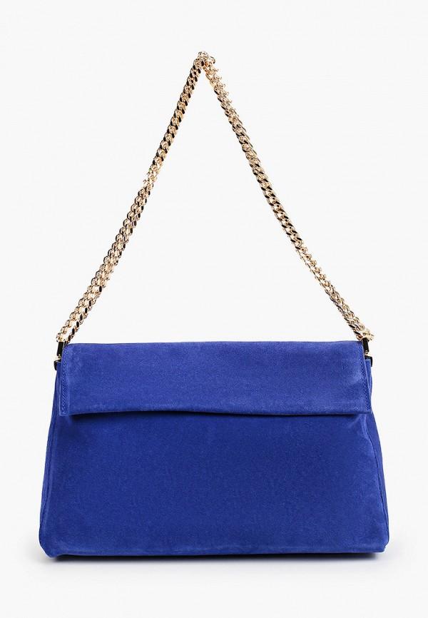 женская сумка через плечо mango, синяя