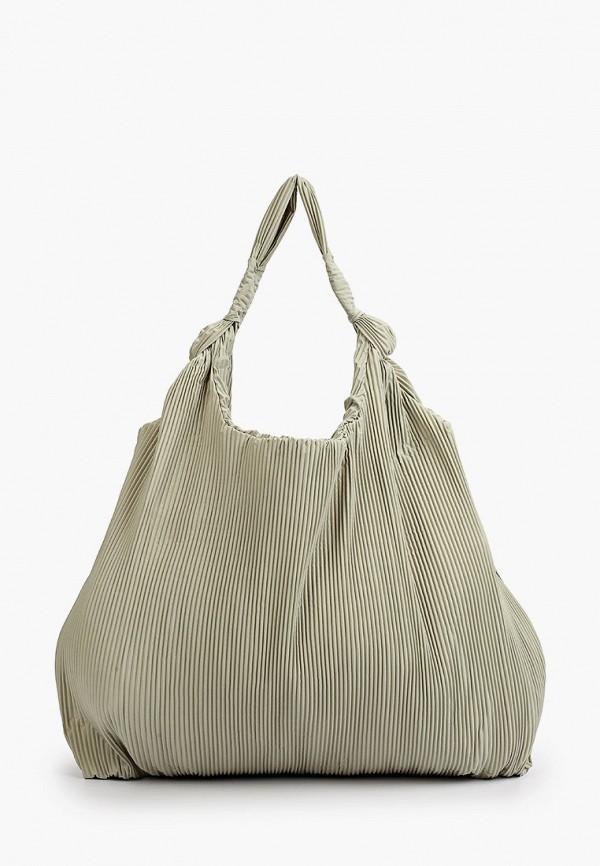 женская сумка-шоперы mango, зеленая
