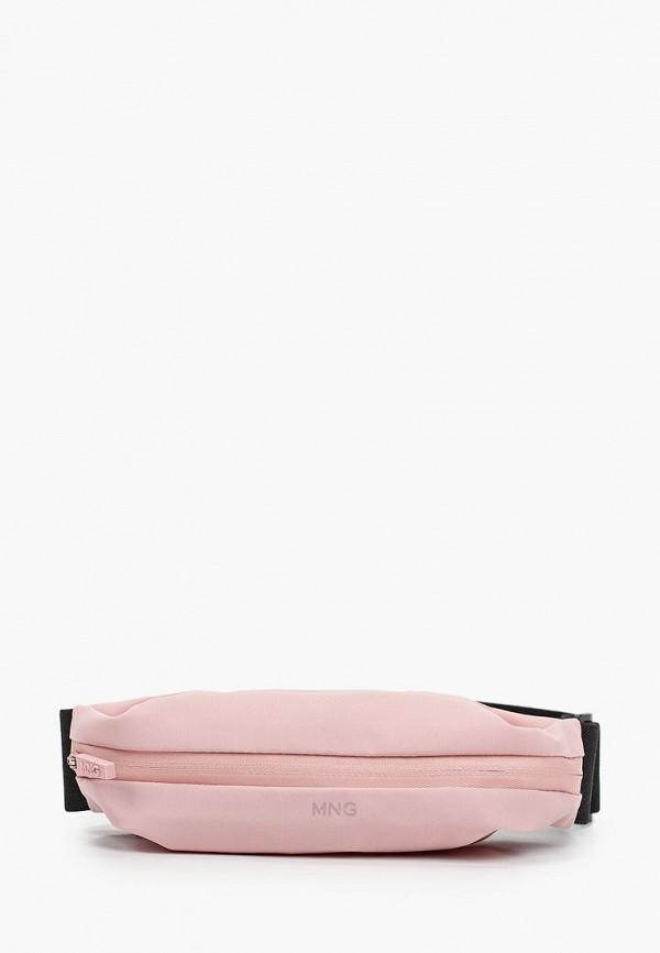 женская поясные сумка mango, розовая
