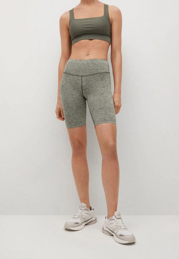 женские спортивные шорты mango, хаки