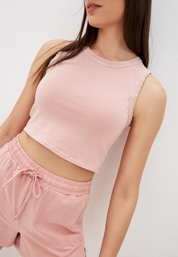 женский топ mango, розовый