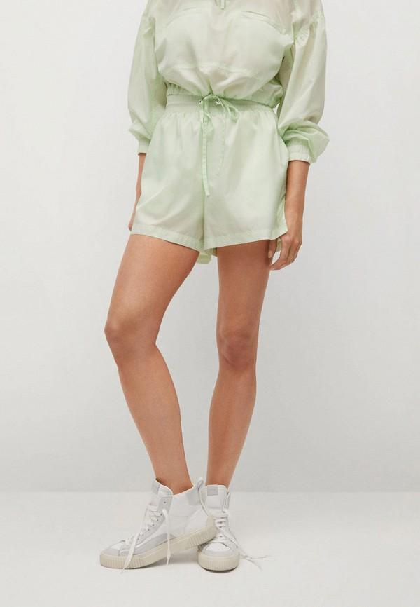 женские повседневные шорты mango, зеленые