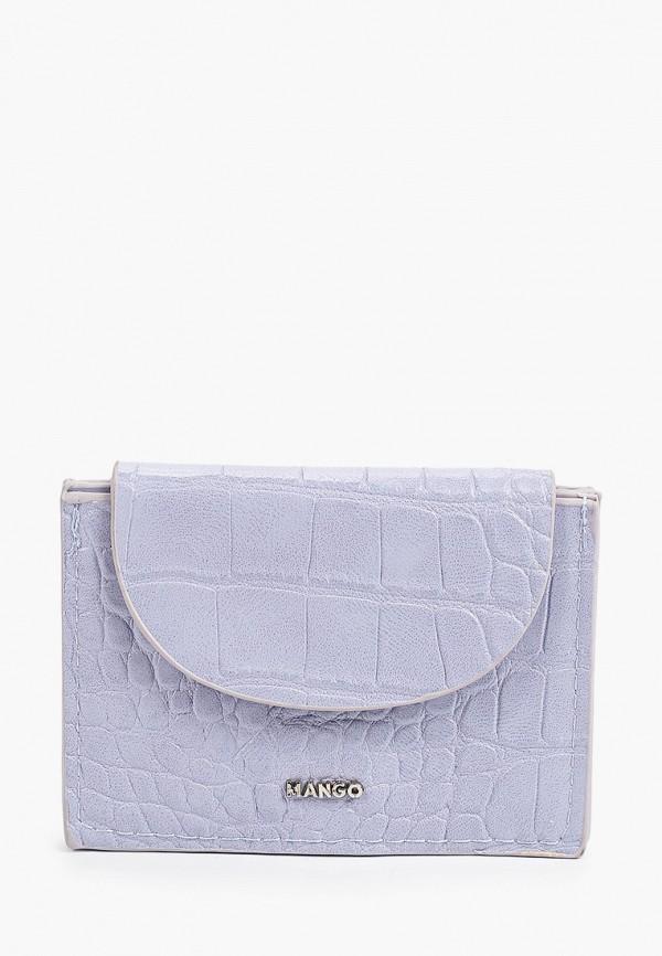 женский кошелёк mango, фиолетовый