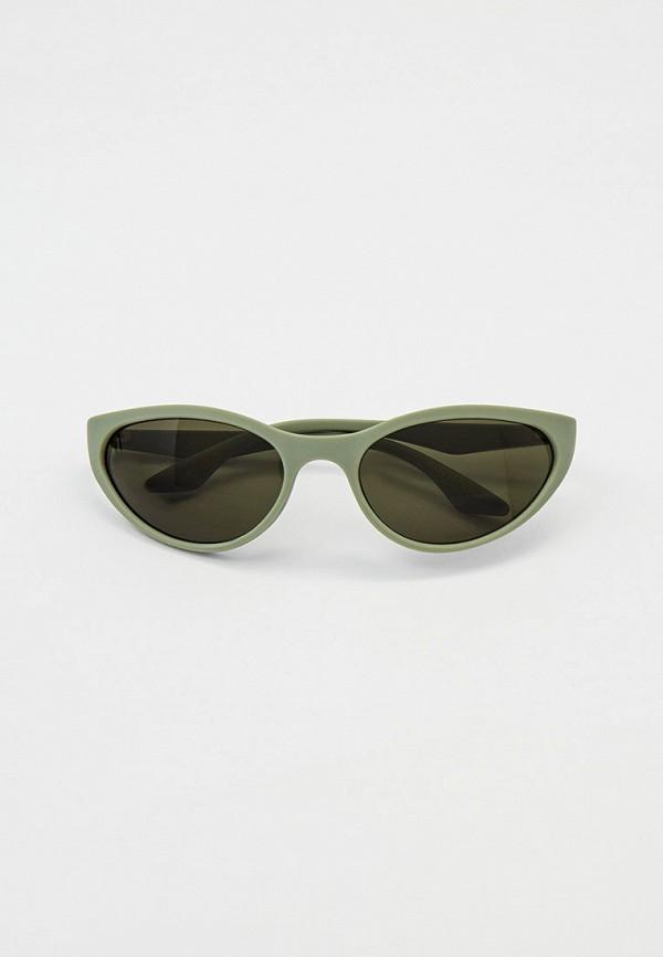 женские солнцезащитные очки mango, зеленые