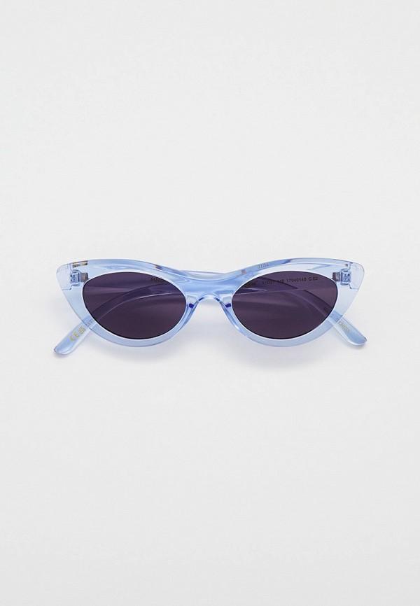 женские солнцезащитные очки кошачьи глаза mango, голубые