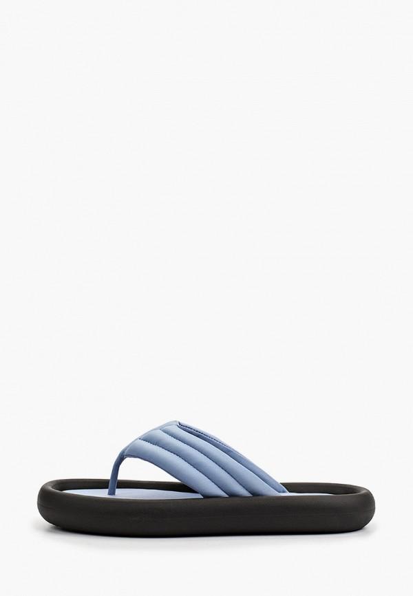 женское сабо mango, голубое