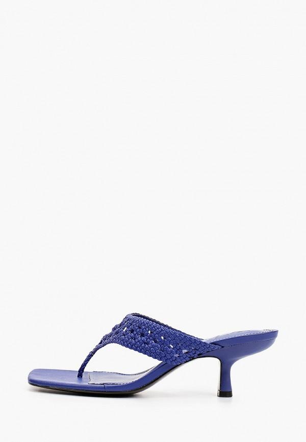 женское сабо mango, синее