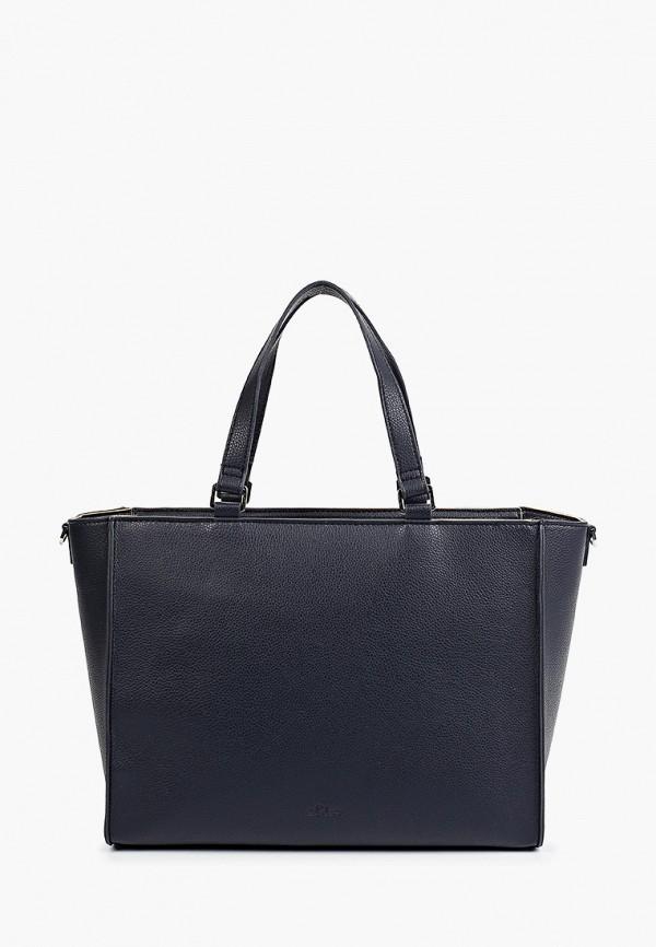 женская сумка с ручками s.oliver, синяя