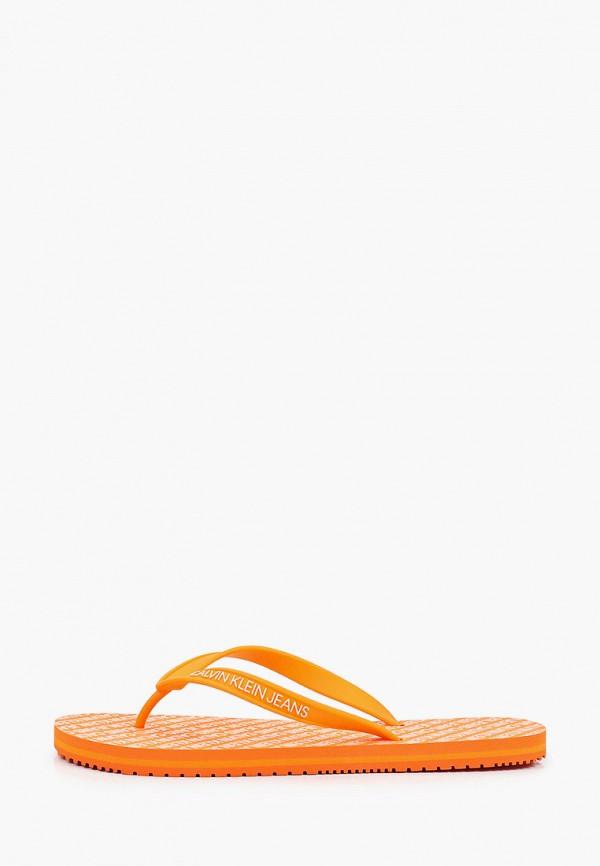 Сланцы Calvin Klein Jeans Calvin Klein Jeans YM0YM00057 оранжевый фото