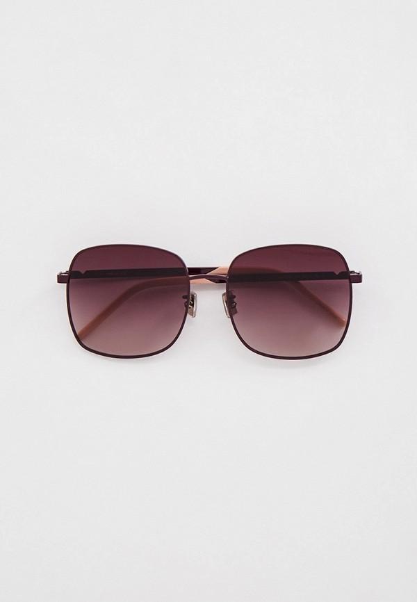 женские квадратные солнцезащитные очки kenzo, фиолетовые