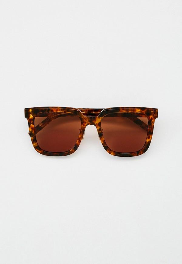 женские квадратные солнцезащитные очки kenzo, коричневые