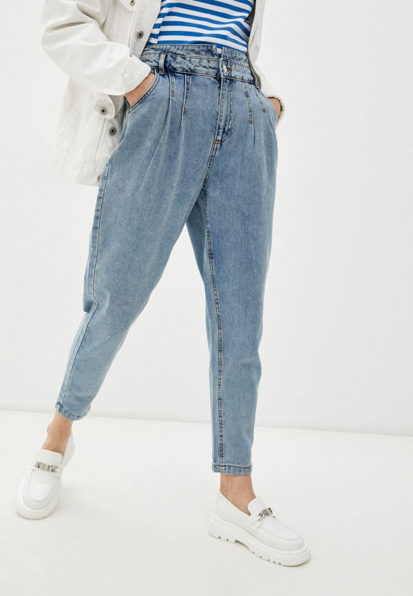 женские джинсы b.young, голубые