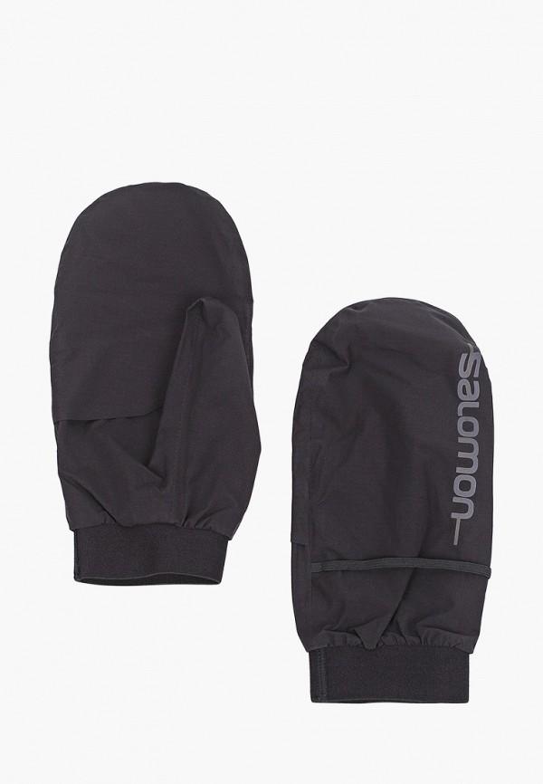 женские перчатки salomon, черные