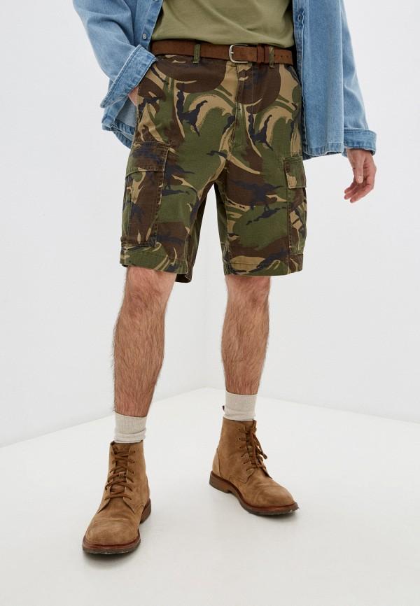 мужские повседневные шорты polo ralph lauren, хаки