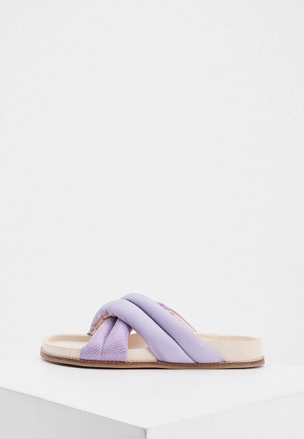 женское сабо inch2, фиолетовое