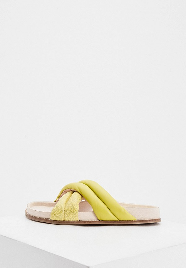 женское сабо inch2, желтое