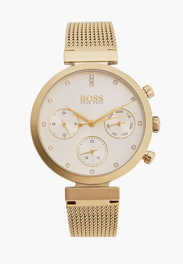 женские часы boss, золотые
