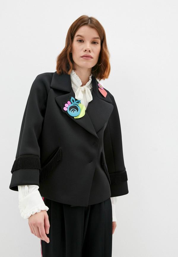 женский жакет emporio armani, черный