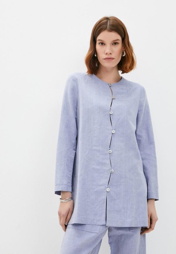 женская блузка emporio armani, голубая