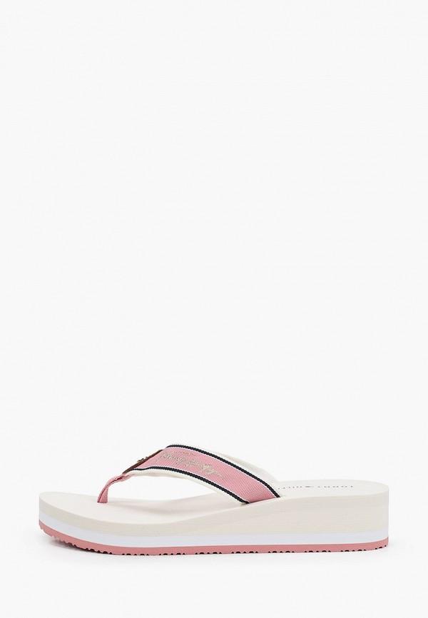Сланцы Tommy Hilfiger розового цвета