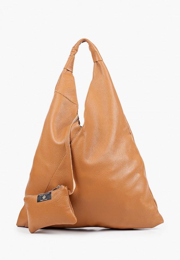женский кошелёк-шоперы anna luchini, коричневый