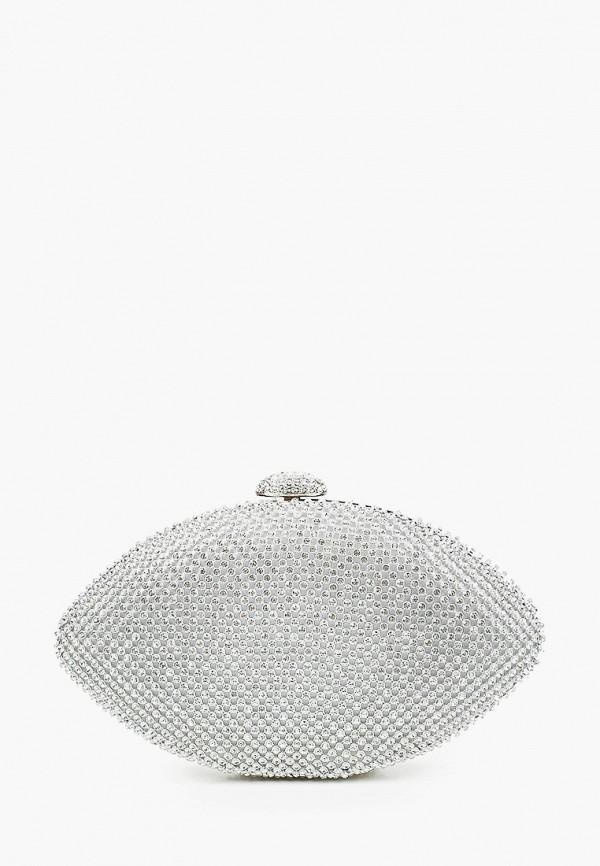 женский клатч isabella rhea, серебряный