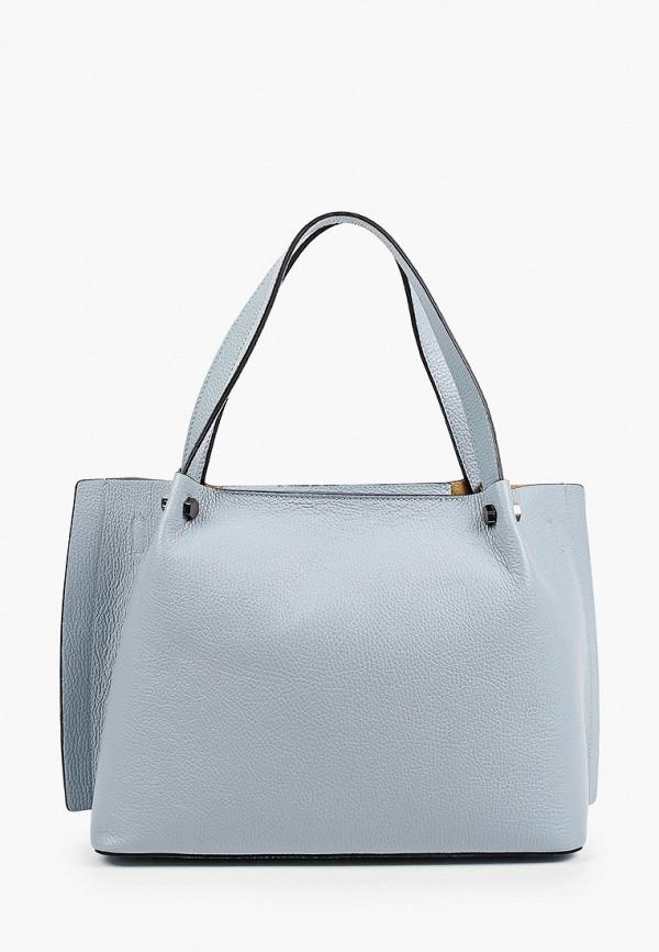 женская сумка-шоперы luisa vannini, голубая