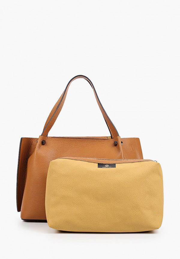 женская сумка-шоперы luisa vannini, коричневая