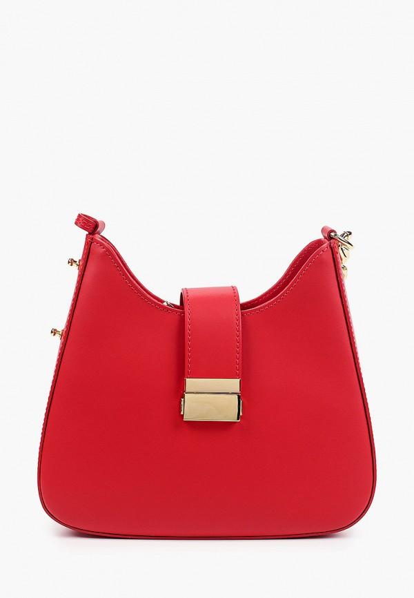 женская сумка через плечо luisa vannini, красная