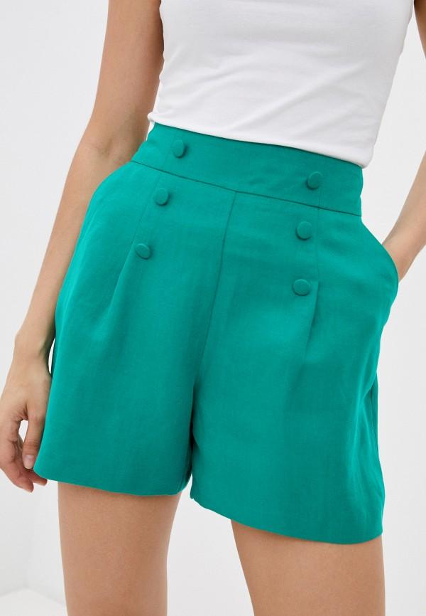 женские повседневные шорты naf naf, зеленые