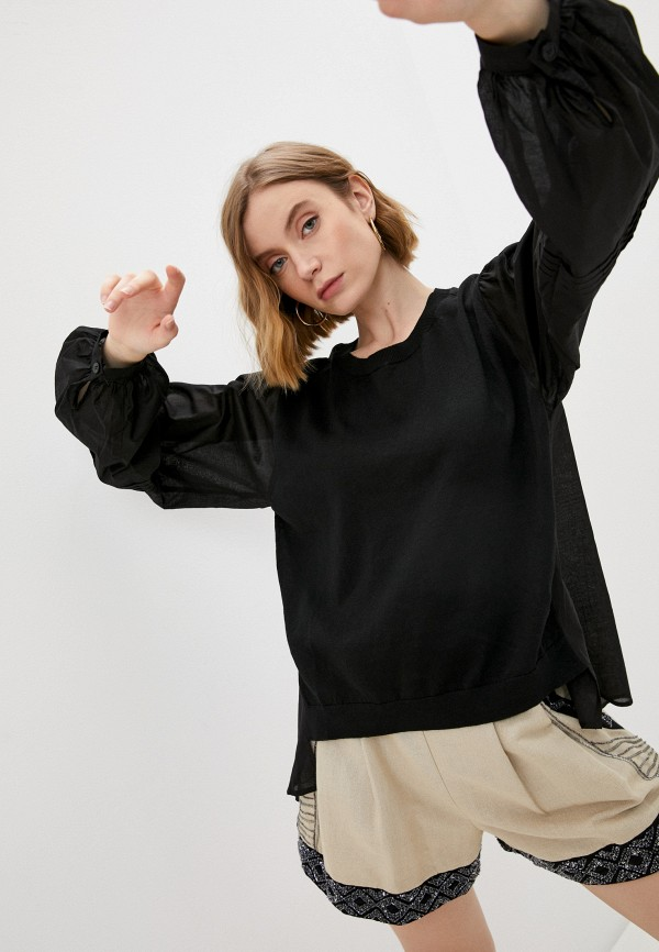 женская блузка twinset milano, черная