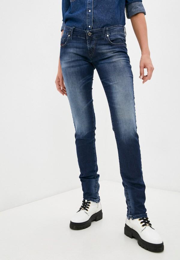 женские джинсы скинни diesel, синие