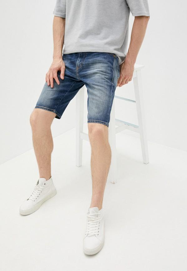 мужские джинсовые шорты diesel, синие
